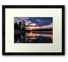 Sunset Massasauga Provincial Park Framed Print