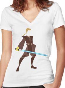 Anakin (Padawan) Women's Fitted V-Neck T-Shirt