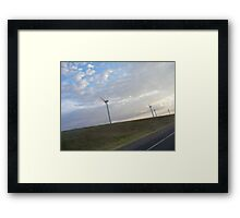 Clean Air, Clean Energy--An Oklahoma Wind Farm Framed Print