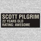 Scott Pilgrim - Scott's Name Tag by JordanDefty
