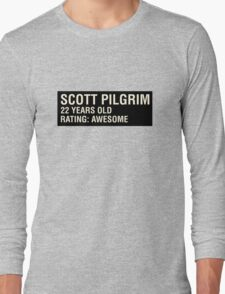 Scott Pilgrim - Scott's Name Tag Long Sleeve T-Shirt