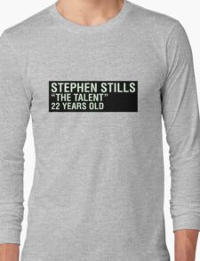 Scott Pilgrim - Stephen Stills' Name Tag Long Sleeve T-Shirt