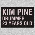 Scott Pilgrim - Kim Pine's Name Tag by JordanDefty