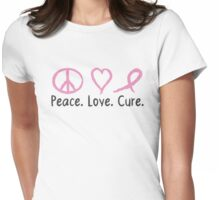 Peace Love Cure Womens Fitted T-Shirt