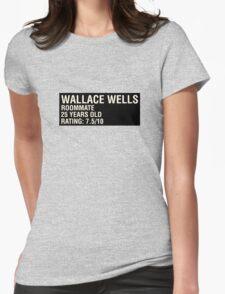 Scott Pilgrim - Wallace Wells' Name Card Womens Fitted T-Shirt