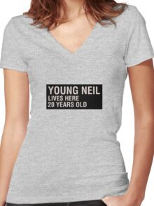 Scott Pilgrim - Young Neil's Name Card Women's Fitted V-Neck T-Shirt