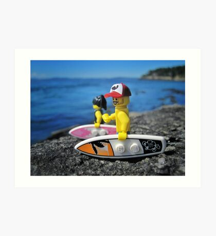 Surf's Up! (2 of 3) Art Print