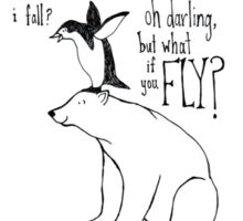 But what if you FLY? Sticker