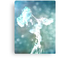 Withering Away - Aqua Sparkle Canvas Print