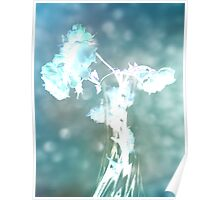 Withering Away - Aqua Sparkle Poster