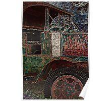 Vintage Dump Truck Poster