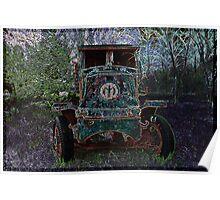 Vintage Dump Truck 2 Poster