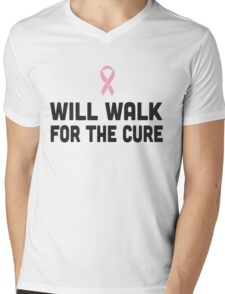 Will Walk for the Cure Mens V-Neck T-Shirt
