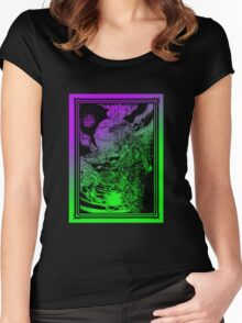 **** PSYCHEDELIC SPACE OX **** Women's Fitted Scoop T-Shirt