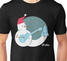 Snowman on Guitar  Unisex T-Shirt