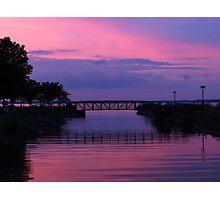Shoreline Park At Dusk Photographic Print
