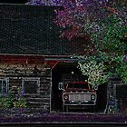 Vintage Ford Truck in Barn by Kim Krause