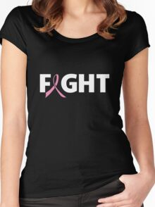 Fight Ribbon for Breast Cancer Women's Fitted Scoop T-Shirt
