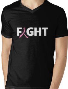 Fight Ribbon for Breast Cancer Mens V-Neck T-Shirt