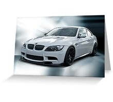 2008 BMW M3 Sports Coupe Greeting Card