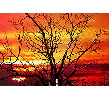 Inferno In The Sky Photographic Print