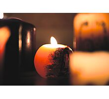 Candle light Photographic Print