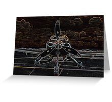 Propeller/Engine Cowl View of Airplane Greeting Card