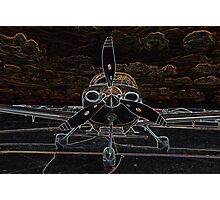 Propeller/Engine Cowl View of Airplane Photographic Print
