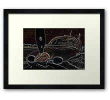 Propeller/Engine Cowl View of Airplane 2 Framed Print