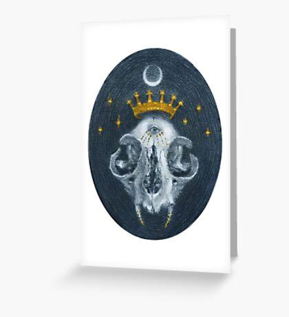 Skull Queen  Greeting Card
