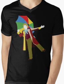 The Sixth Doctor - Doctor Who - Colin Baker Mens V-Neck T-Shirt