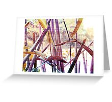 Wetland Reeds - Surreal Color Greeting Card