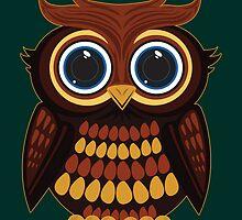 Friendly Owl - Green by Adamzworld