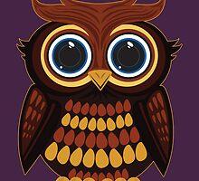 Friendly Owl - Purple by Adamzworld