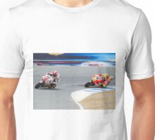 Marco Simoncelli and Valentino Rossi at laguna seca 2011 Unisex T-Shirt