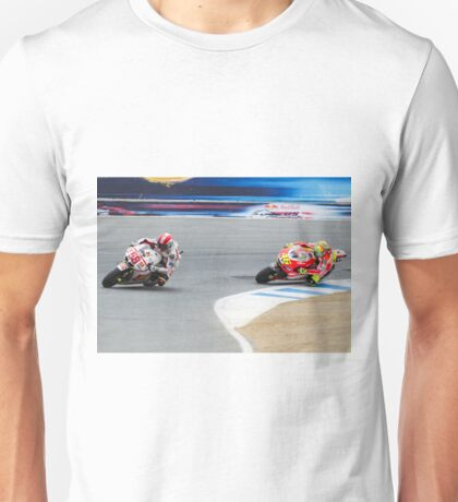 Marco Simoncelli and Valentino Rossi at laguna seca 2011 Unisex T-Shirt