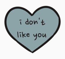 Sassy Heart– i don't like you–blue-grey by Sam Asselman