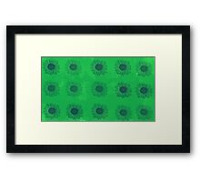 Sunflowers in Green Framed Print