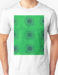 Sunflowers in Green Unisex T-Shirt