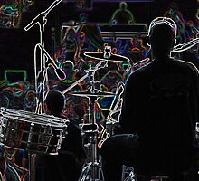 Neon Band, Drummer by Kim Krause