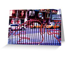 New York, Times Square grid Greeting Card