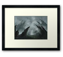 Jagged City Framed Print