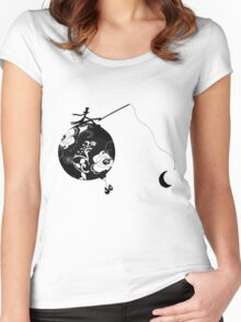 Monsieur Jacques moon's fisherman Women's Fitted Scoop T-Shirt
