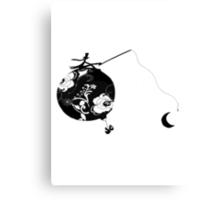 Monsieur Jacques moon's fisherman Canvas Print