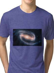 Barred Spiral Galaxy Tri-blend T-Shirt