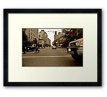 City Driving Framed Print