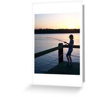 Yamba Fishing at Sunset Greeting Card