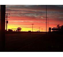 Australian Outback Sunset Photographic Print