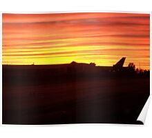 Qantas Sunset Poster