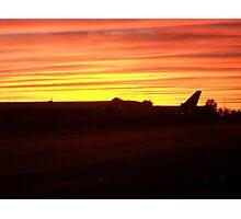 Qantas Sunset Photographic Print